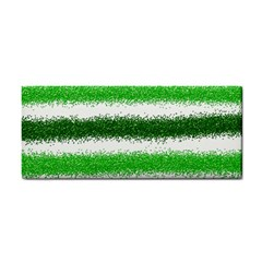 Metallic Green Glitter Stripes Cosmetic Storage Cases