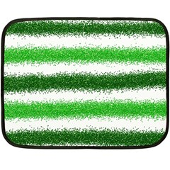 Metallic Green Glitter Stripes Fleece Blanket (mini)
