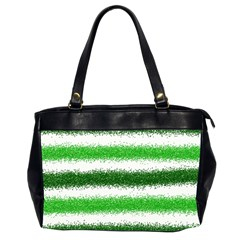 Metallic Green Glitter Stripes Office Handbags (2 Sides)