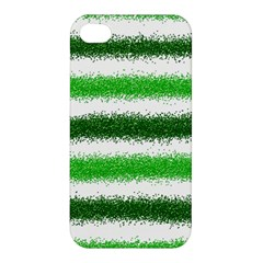 Metallic Green Glitter Stripes Apple iPhone 4/4S Premium Hardshell Case