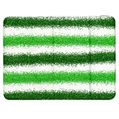 Metallic Green Glitter Stripes Samsung Galaxy Tab 7  P1000 Flip Case