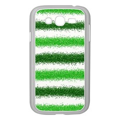 Metallic Green Glitter Stripes Samsung Galaxy Grand Duos I9082 Case (white)