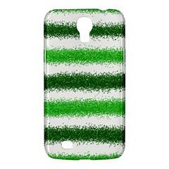 Metallic Green Glitter Stripes Samsung Galaxy Mega 6 3  I9200 Hardshell Case