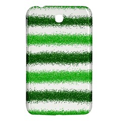 Metallic Green Glitter Stripes Samsung Galaxy Tab 3 (7 ) P3200 Hardshell Case