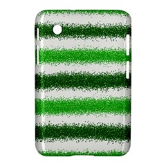 Metallic Green Glitter Stripes Samsung Galaxy Tab 2 (7 ) P3100 Hardshell Case