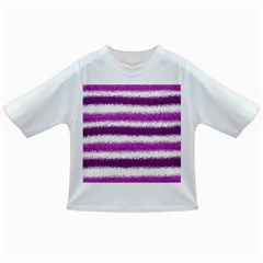 Metallic Pink Glitter Stripes Infant/toddler T Shirts