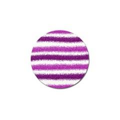 Metallic Pink Glitter Stripes Golf Ball Marker (10 pack)