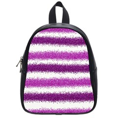 Metallic Pink Glitter Stripes School Bags (small)