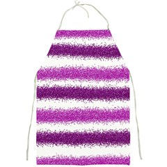 Metallic Pink Glitter Stripes Full Print Aprons