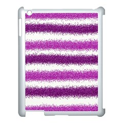 Metallic Pink Glitter Stripes Apple Ipad 3/4 Case (white)