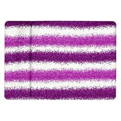 Metallic Pink Glitter Stripes Samsung Galaxy Tab 10.1  P7500 Flip Case