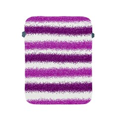 Metallic Pink Glitter Stripes Apple iPad 2/3/4 Protective Soft Cases