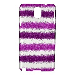 Metallic Pink Glitter Stripes Samsung Galaxy Note 3 N9005 Hardshell Case