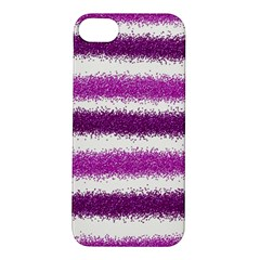 Metallic Pink Glitter Stripes Apple Iphone 5s/ Se Hardshell Case