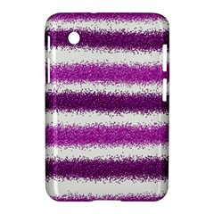 Metallic Pink Glitter Stripes Samsung Galaxy Tab 2 (7 ) P3100 Hardshell Case