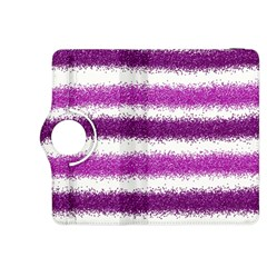 Metallic Pink Glitter Stripes Kindle Fire Hdx 8 9  Flip 360 Case