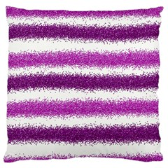 Metallic Pink Glitter Stripes Standard Flano Cushion Case (two Sides)