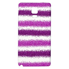 Metallic Pink Glitter Stripes Galaxy Note 4 Back Case