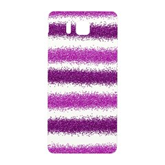 Metallic Pink Glitter Stripes Samsung Galaxy Alpha Hardshell Back Case