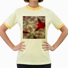 Morocco Motif Pattern Travel Women s Fitted Ringer T-Shirts