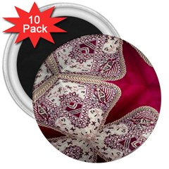 Morocco Motif Pattern Travel 3  Magnets (10 pack)