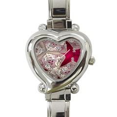 Morocco Motif Pattern Travel Heart Italian Charm Watch