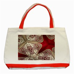 Morocco Motif Pattern Travel Classic Tote Bag (Red)