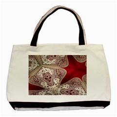 Morocco Motif Pattern Travel Basic Tote Bag (Two Sides)