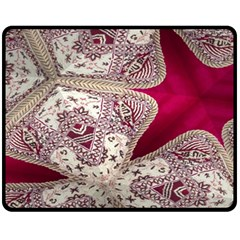 Morocco Motif Pattern Travel Fleece Blanket (medium)