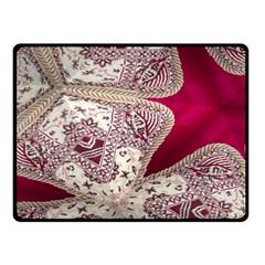 Morocco Motif Pattern Travel Fleece Blanket (Small)