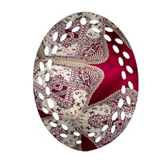 Morocco Motif Pattern Travel Oval Filigree Ornament (two Sides)