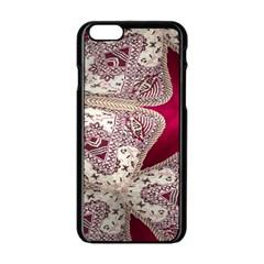 Morocco Motif Pattern Travel Apple Iphone 6/6s Black Enamel Case