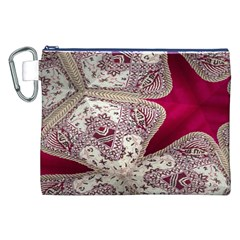 Morocco Motif Pattern Travel Canvas Cosmetic Bag (XXL)
