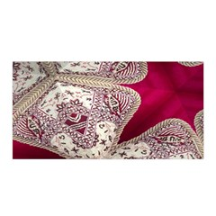 Morocco Motif Pattern Travel Satin Wrap