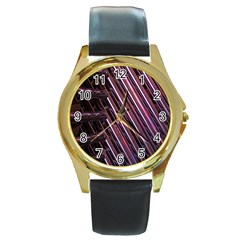 Metal Tube Chair Stack Stacked Round Gold Metal Watch