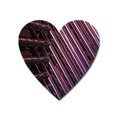 Metal Tube Chair Stack Stacked Heart Magnet