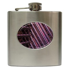 Metal Tube Chair Stack Stacked Hip Flask (6 Oz)