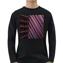 Metal Tube Chair Stack Stacked Long Sleeve Dark T-Shirts