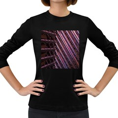 Metal Tube Chair Stack Stacked Women s Long Sleeve Dark T Shirts