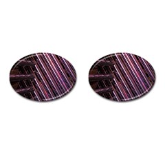 Metal Tube Chair Stack Stacked Cufflinks (Oval)
