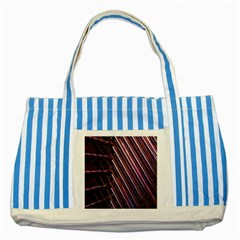 Metal Tube Chair Stack Stacked Striped Blue Tote Bag