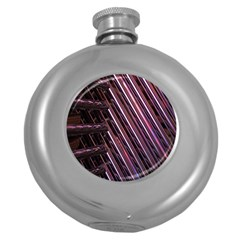 Metal Tube Chair Stack Stacked Round Hip Flask (5 Oz)