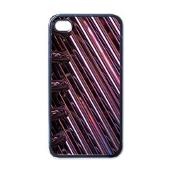 Metal Tube Chair Stack Stacked Apple Iphone 4 Case (black)