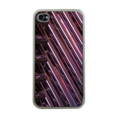 Metal Tube Chair Stack Stacked Apple Iphone 4 Case (clear)