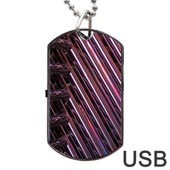 Metal Tube Chair Stack Stacked Dog Tag USB Flash (Two Sides)