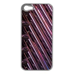 Metal Tube Chair Stack Stacked Apple iPhone 5 Case (Silver)