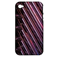Metal Tube Chair Stack Stacked Apple iPhone 4/4S Hardshell Case (PC+Silicone)