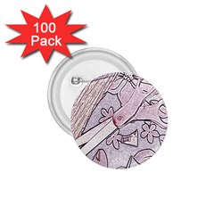 Newspaper Patterns Cutting Up Fabric 1.75  Buttons (100 pack)