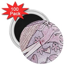 Newspaper Patterns Cutting Up Fabric 2.25  Magnets (100 pack)