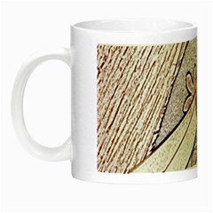 Newspaper Patterns Cutting Up Fabric Night Luminous Mugs